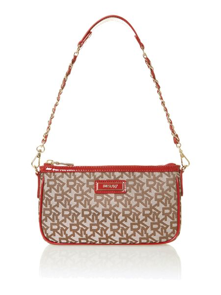 DKNY Red patent small tote bag