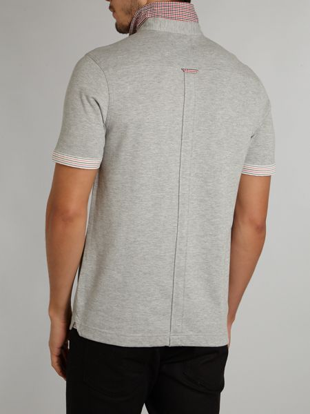 Fred Perry Check and stripe trim shirt