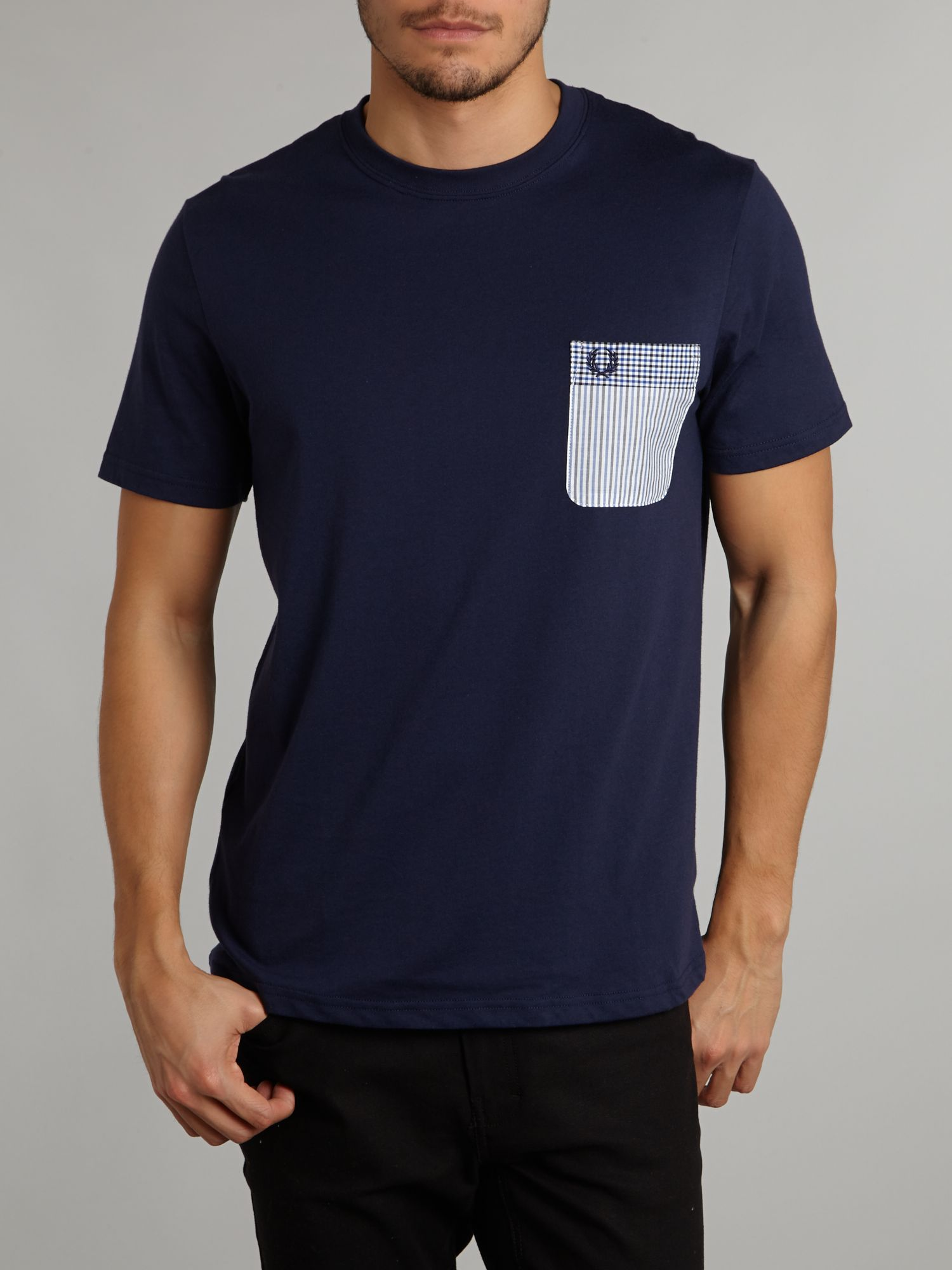 Pattern pocket T-shirt