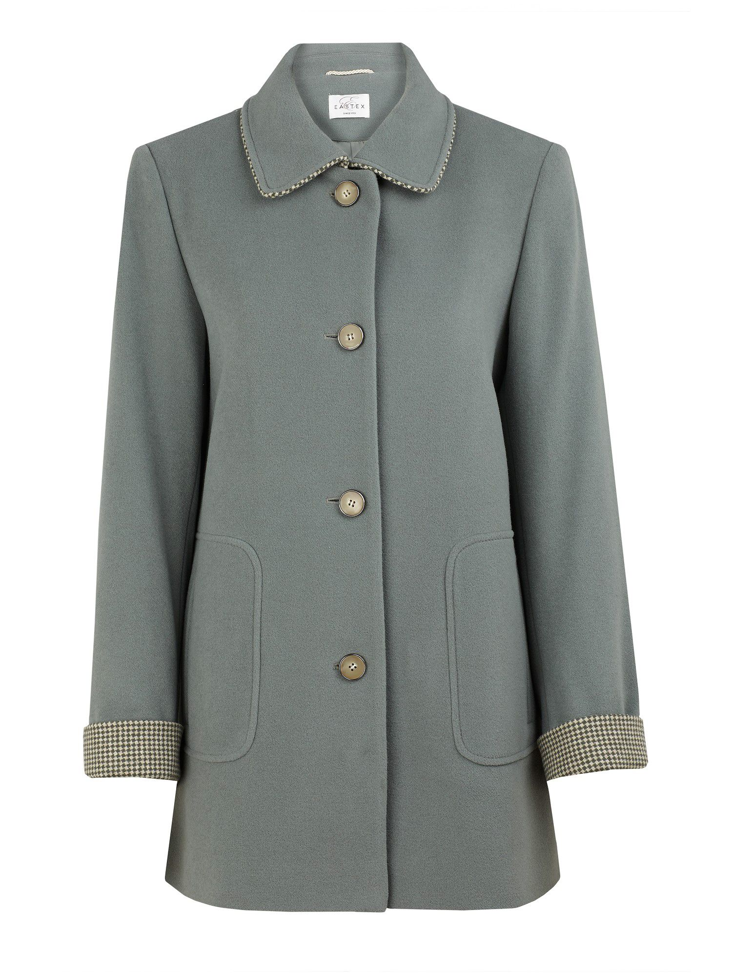 Tweed trimmed short coat