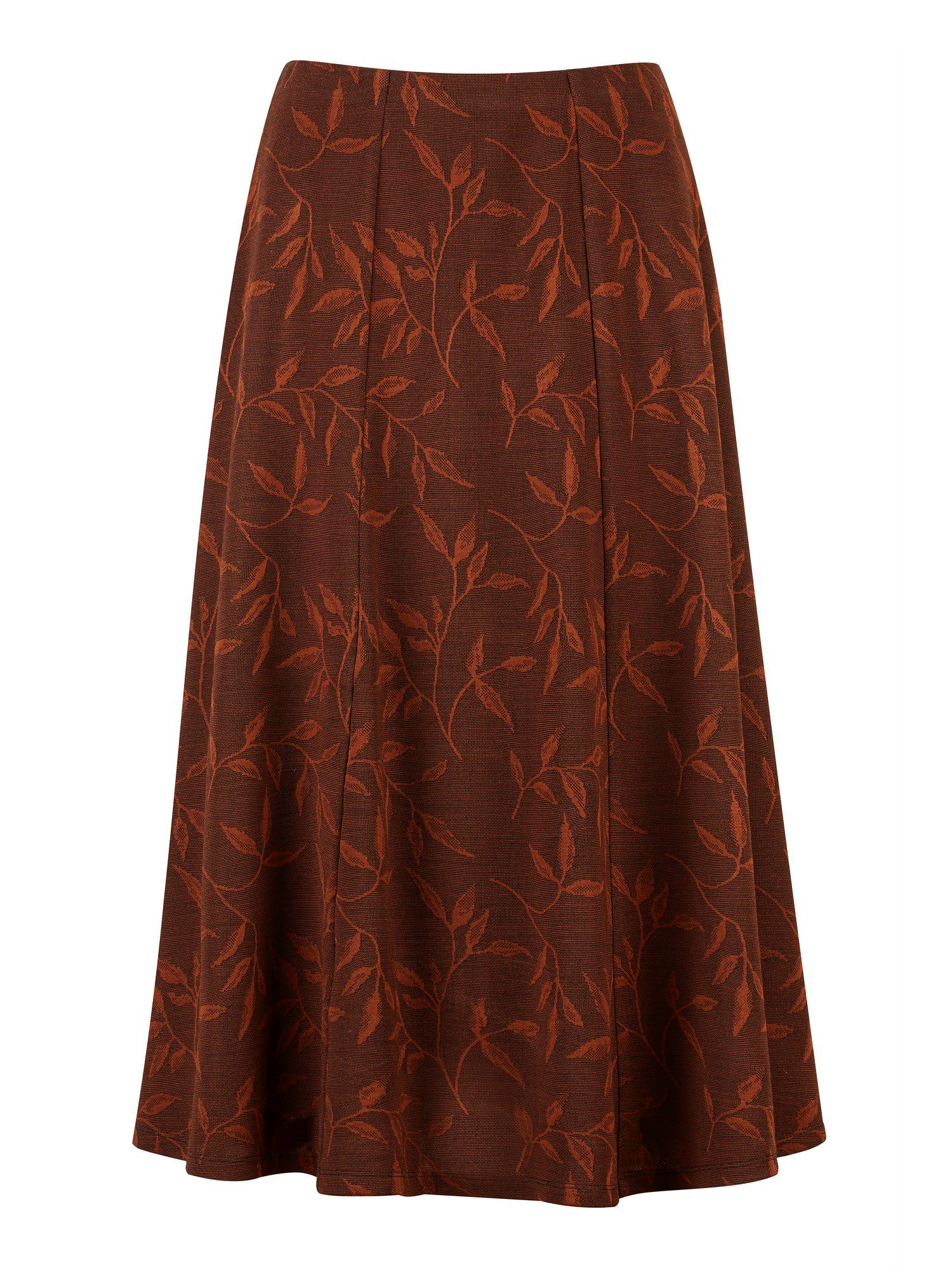Winter spice jacquard skirt