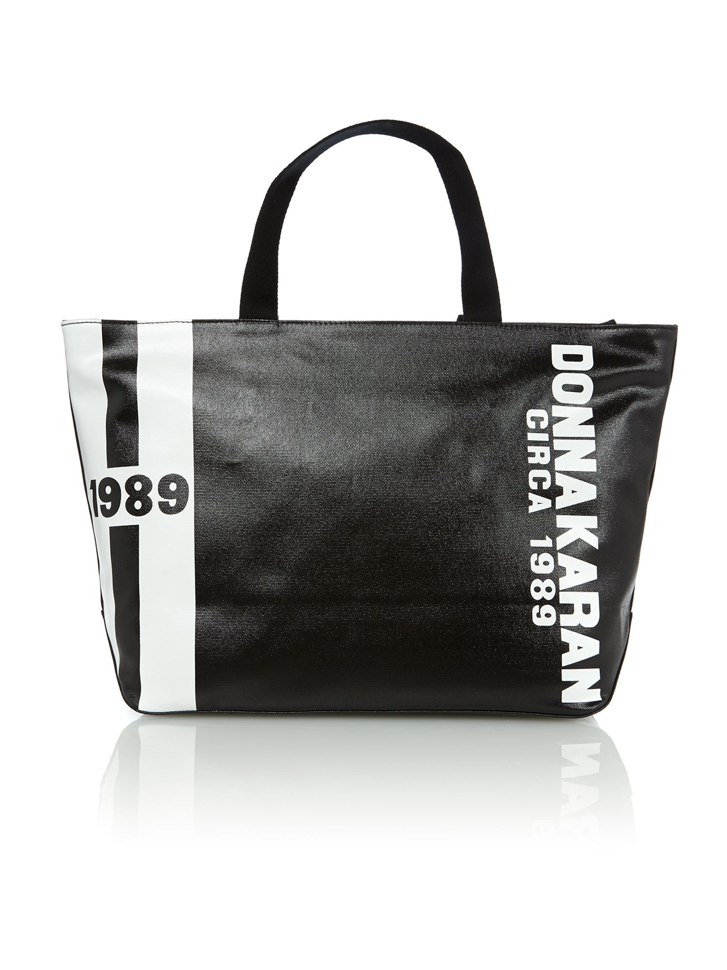 Canvas logo black tote bag