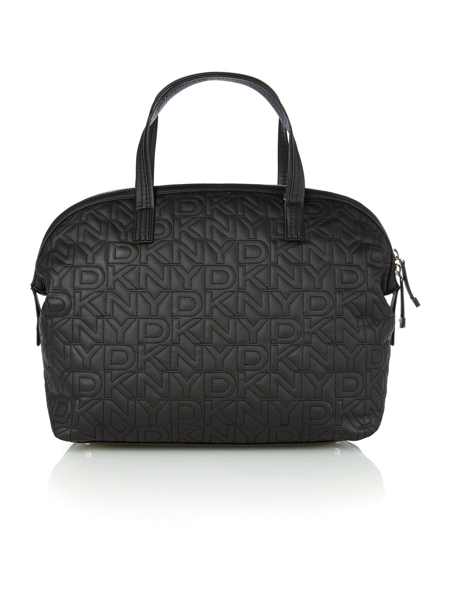 Black quilted logo bowling bag