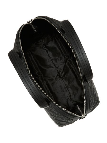 DKNY Black quilted logo bowling bag
