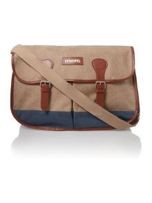 Summer canvas satchel