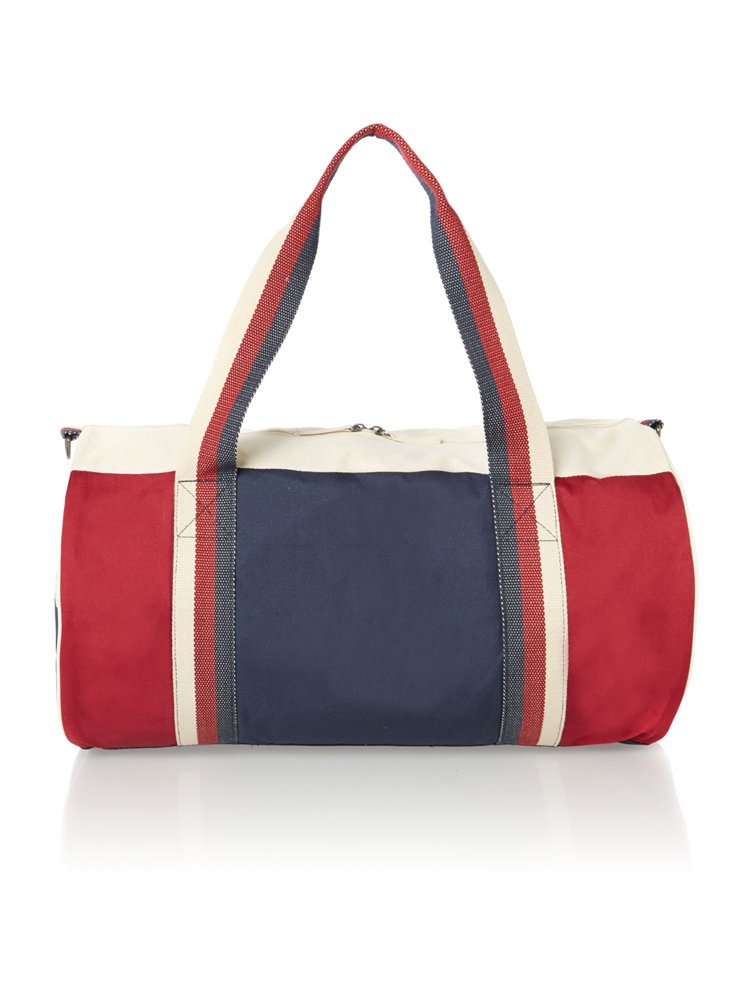 Colour block canvas holdall