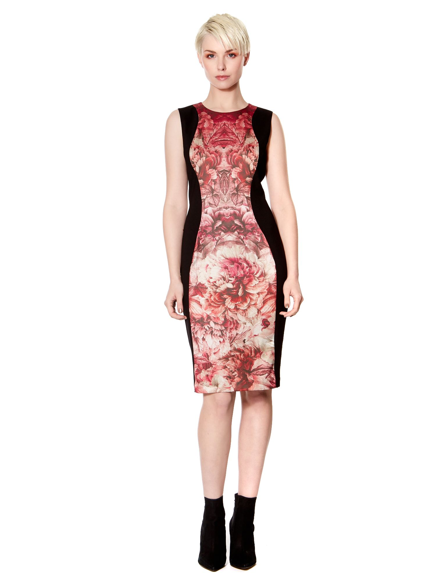 Printed Ponte Panelled Dress