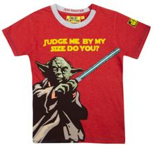 Fabric Flavours Boys Yoda judge me t-shirt