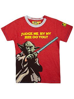 Boys Yoda judge me t-shirt