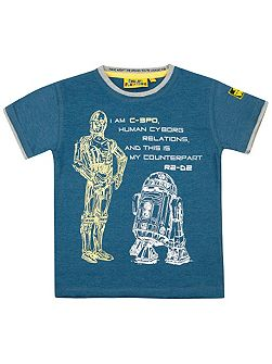 Boys Star Wars Cyborg C-3Po T-shirt