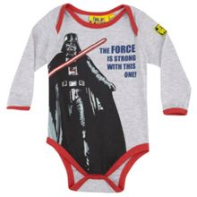 Darth Vader the force is strong babygrow