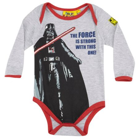 Fabric Flavours Darth Vader the force is strong babygrow