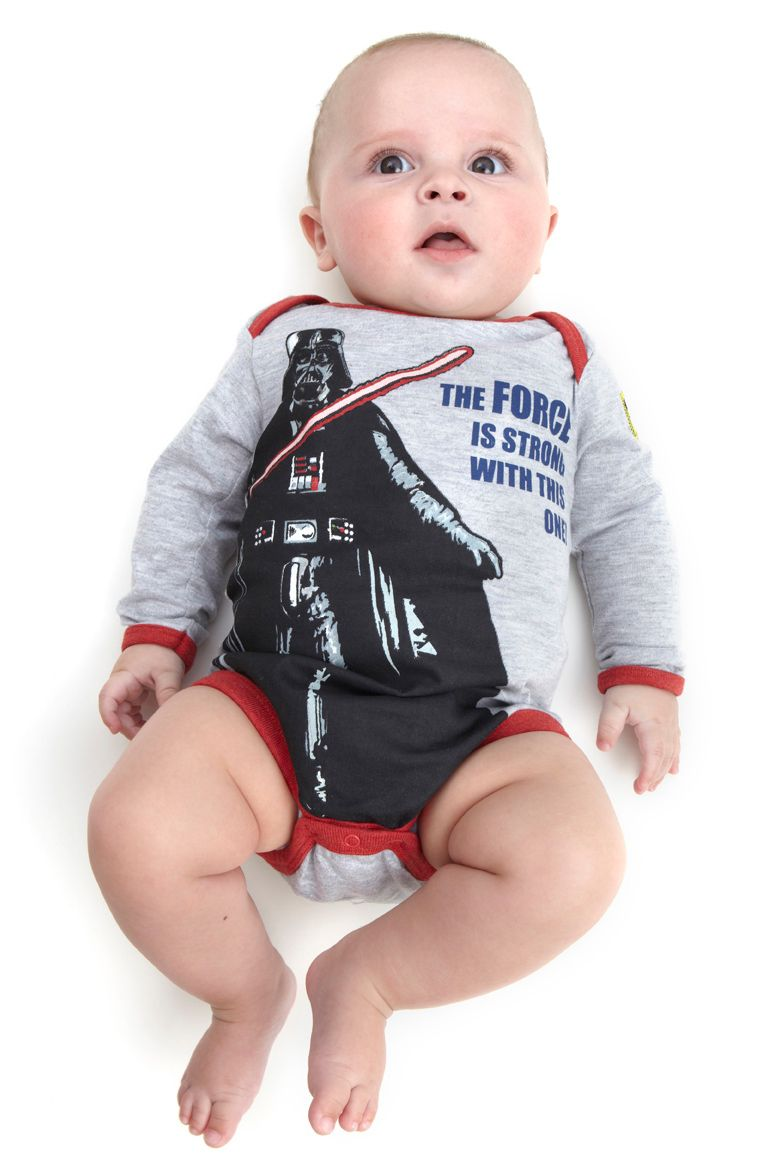 Darth Vader `the force is strong` babygrow
