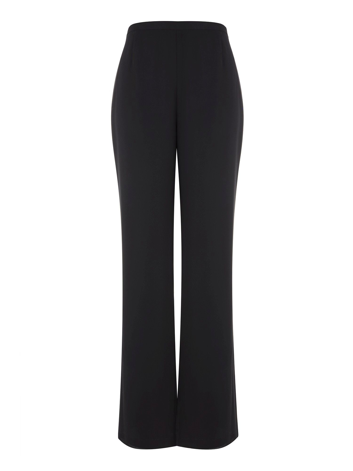 Black georgette wide leg trousers