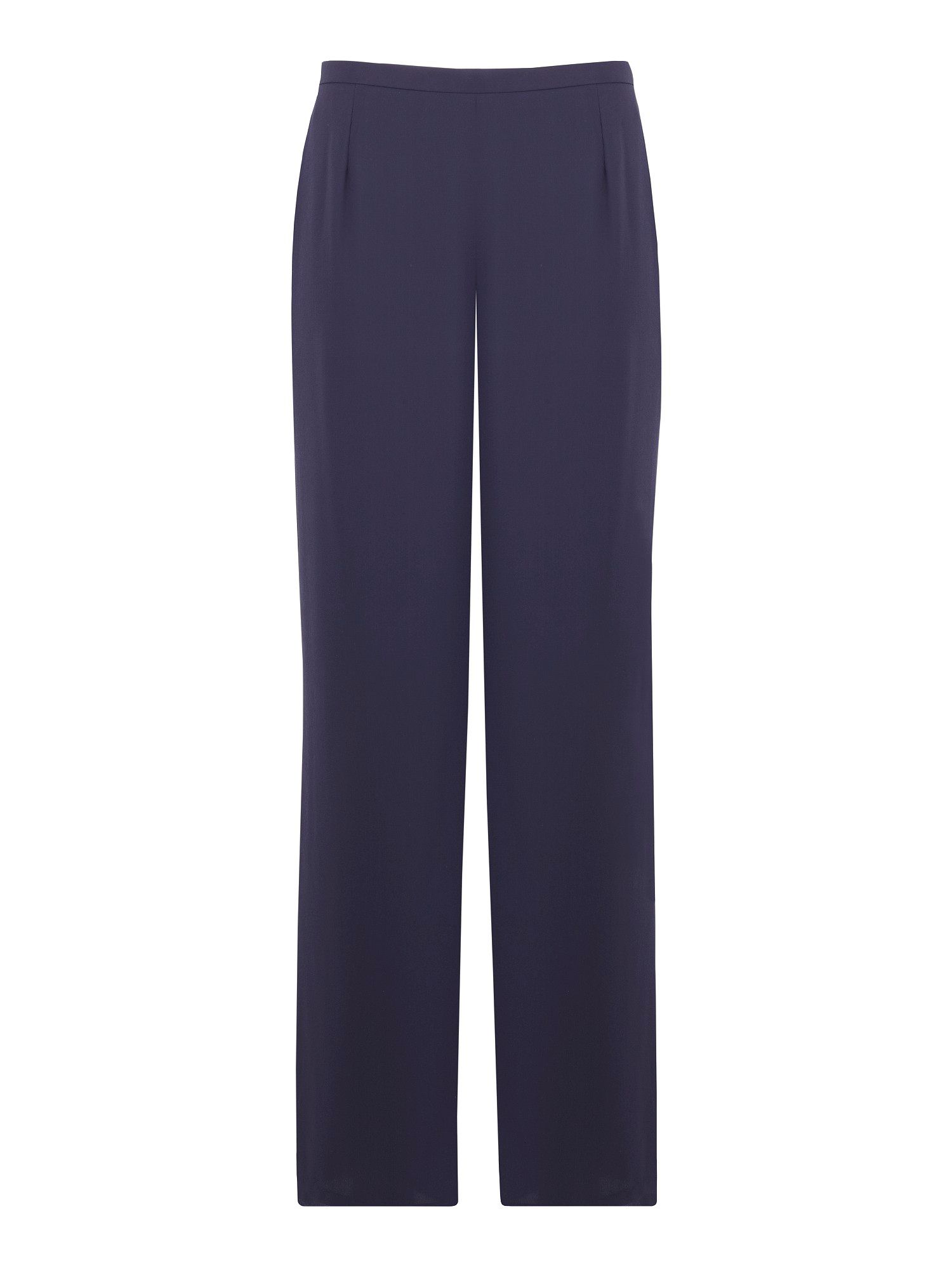 Navy georgette wide leg trouser