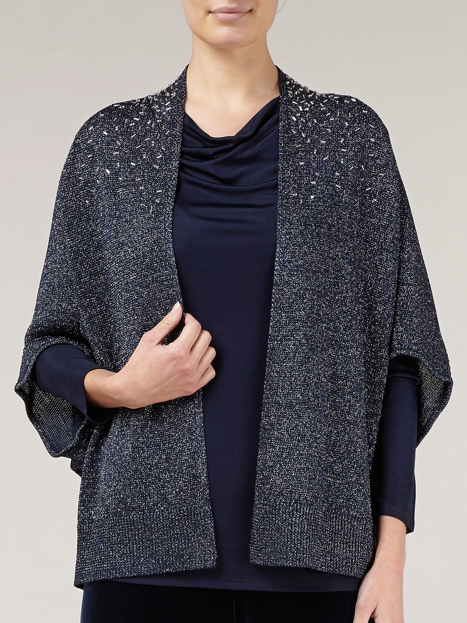 Navy envelope sleeve cardigan