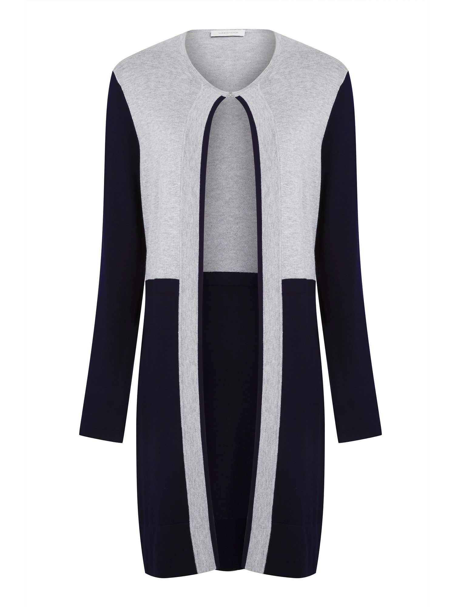 Colourblock longline cardigan