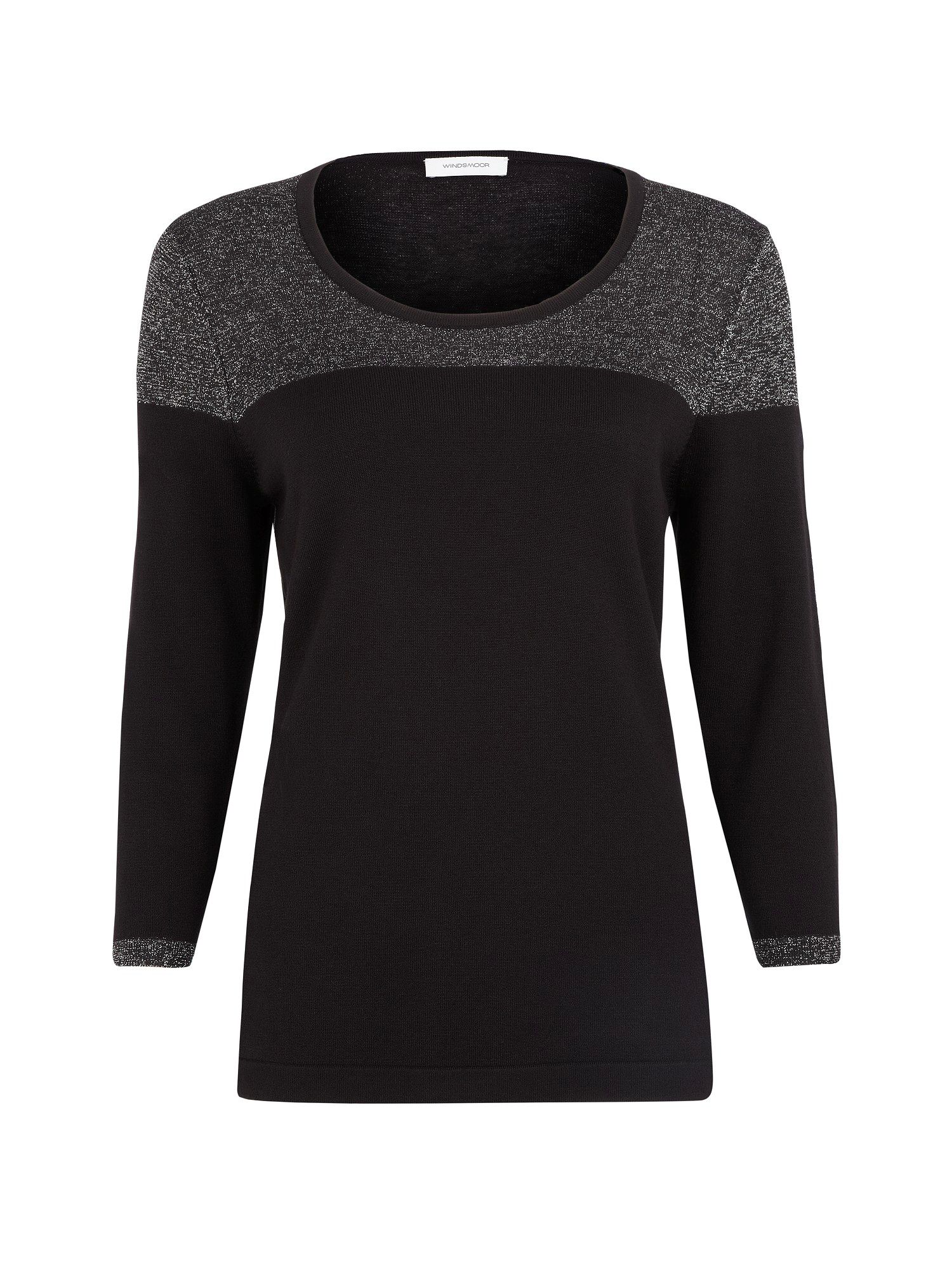 Lurex trim jumper