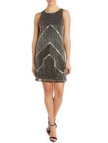 Adrianna Papell Chevron beaded dress