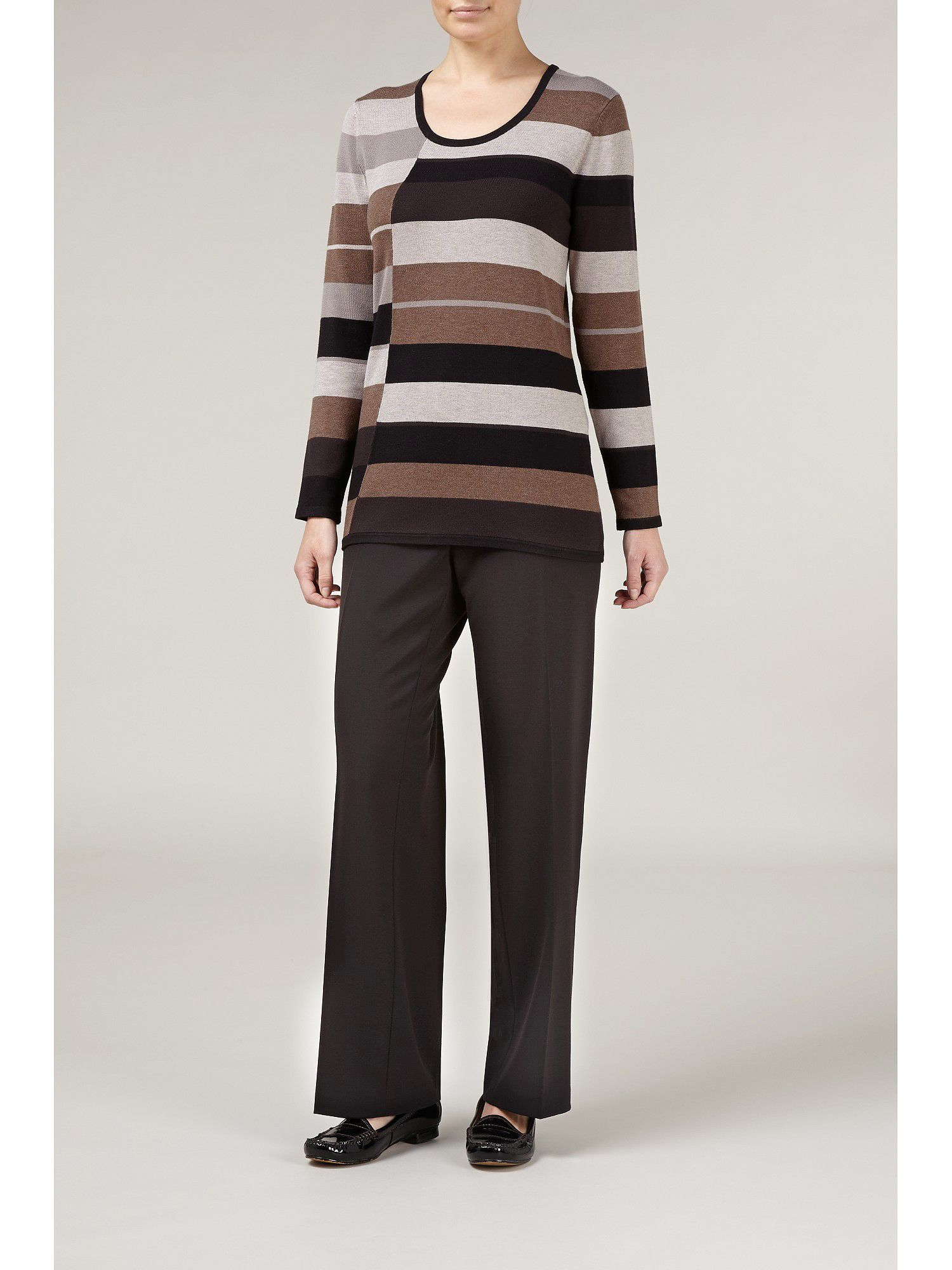 Block stripe jumper