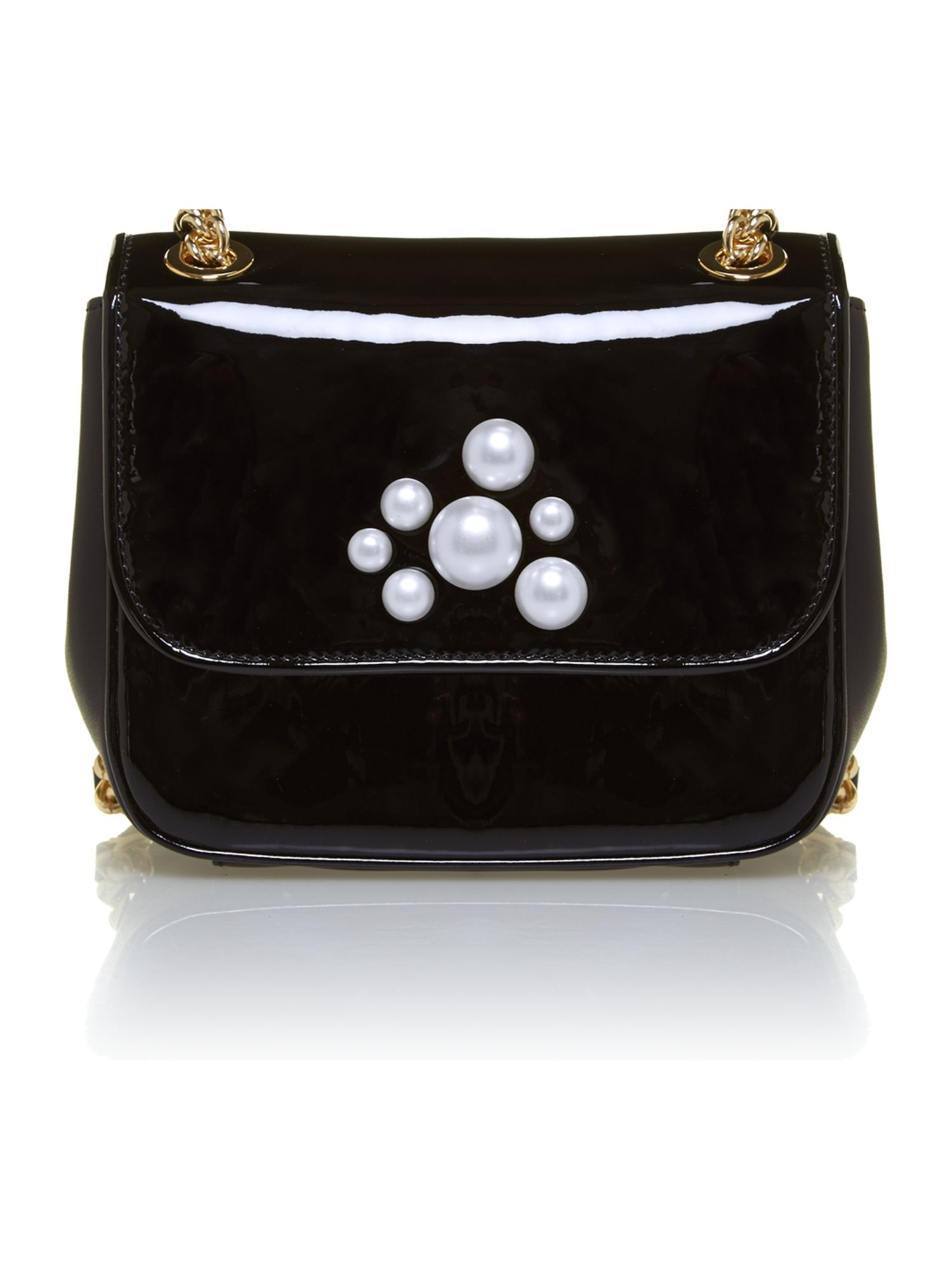 Pearl black shoulder bag