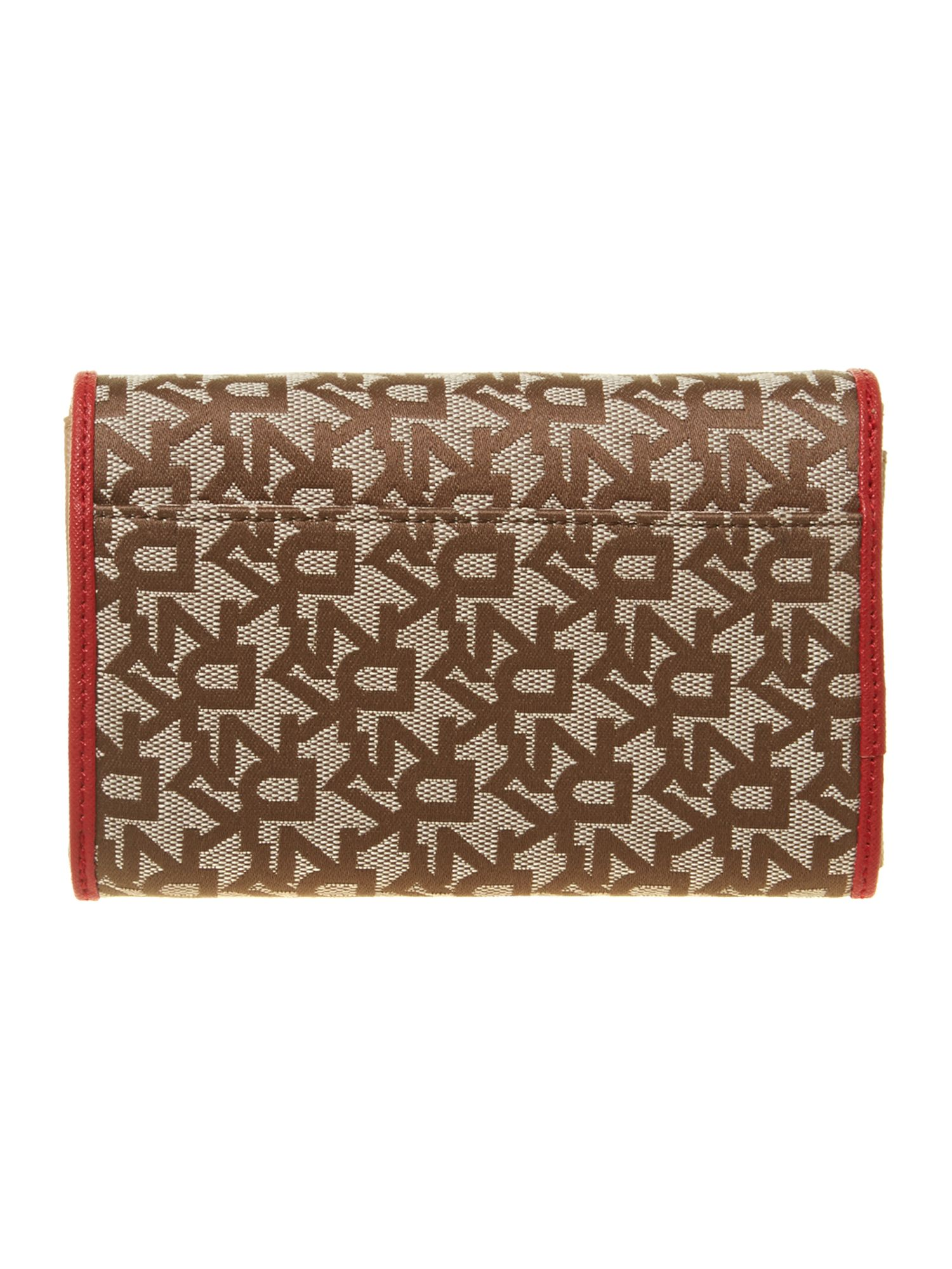 Saffiano red medium flapover purse