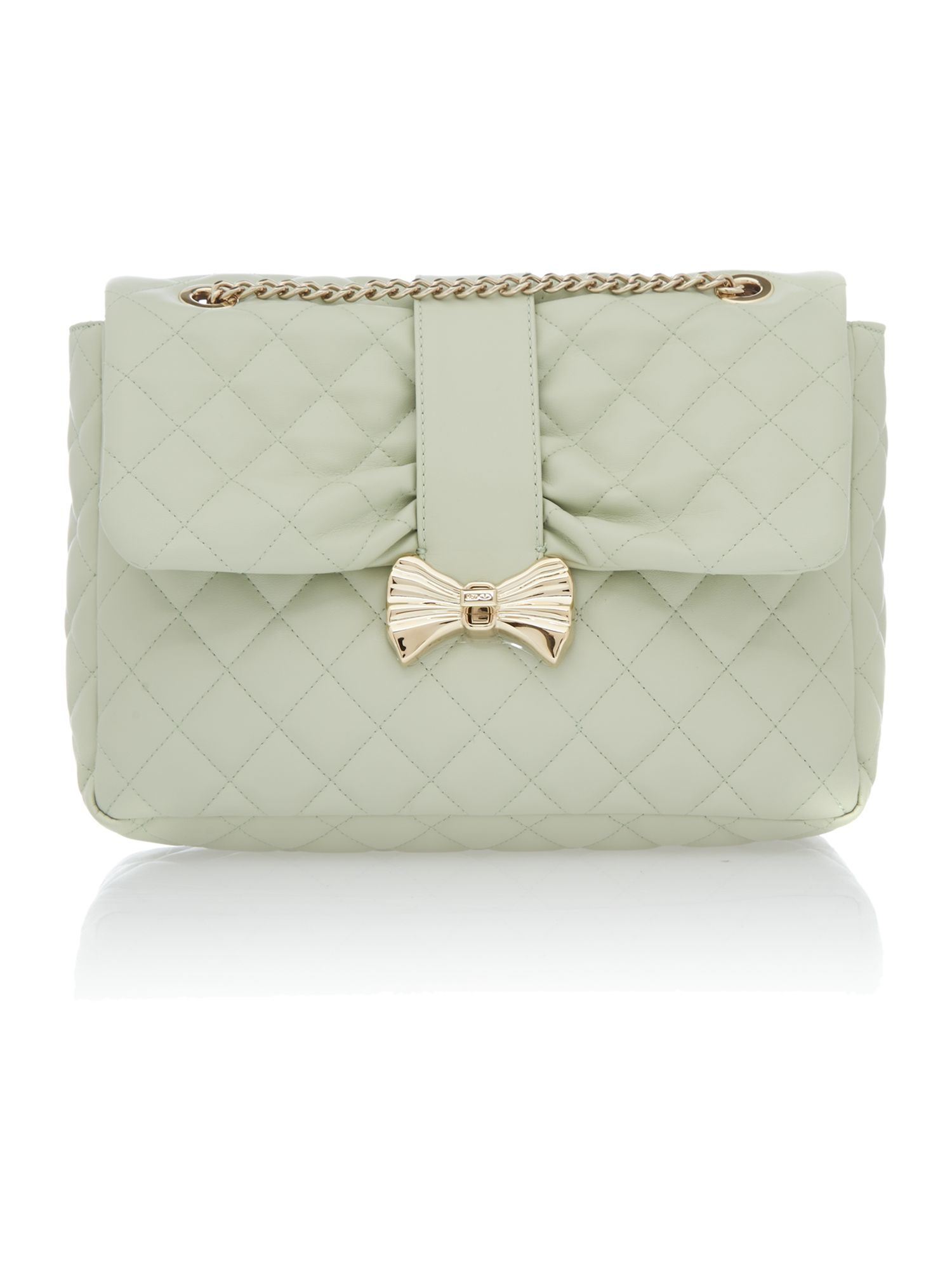 Small shoulder green quilt cross body bag