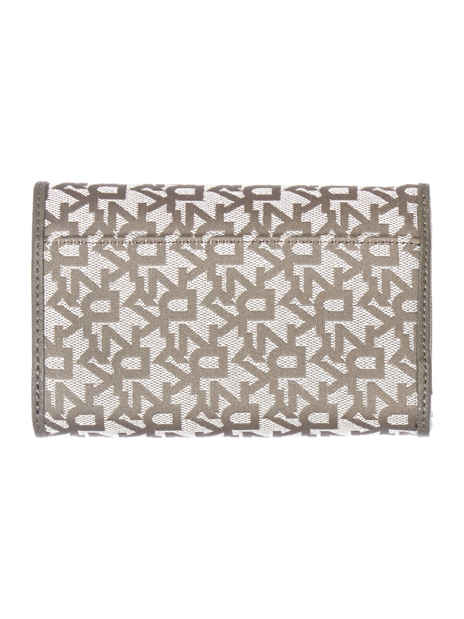 Saffiano grey medium flapover purse