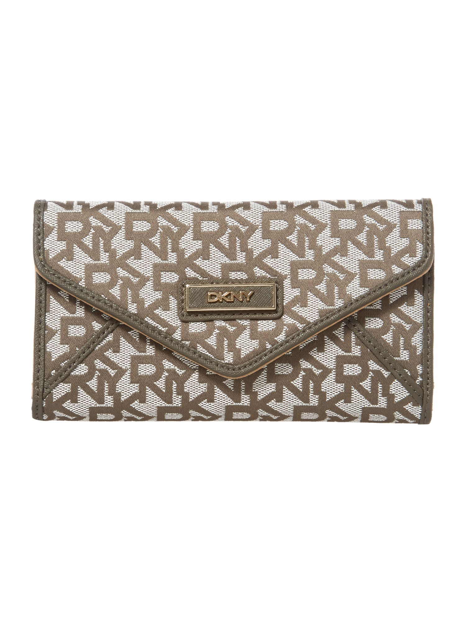 Saffiano grey large envelope purse