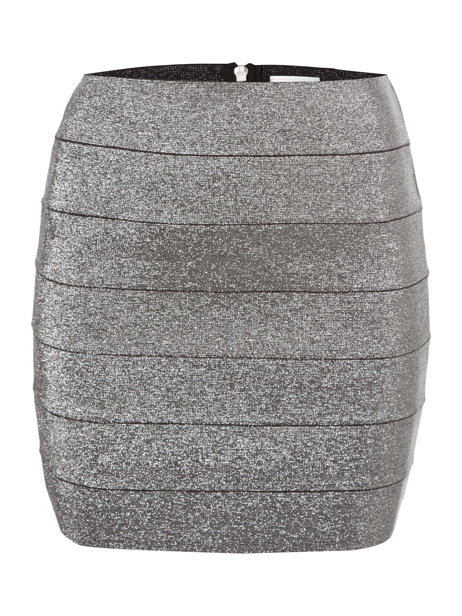 Metallic bandage mini skirt