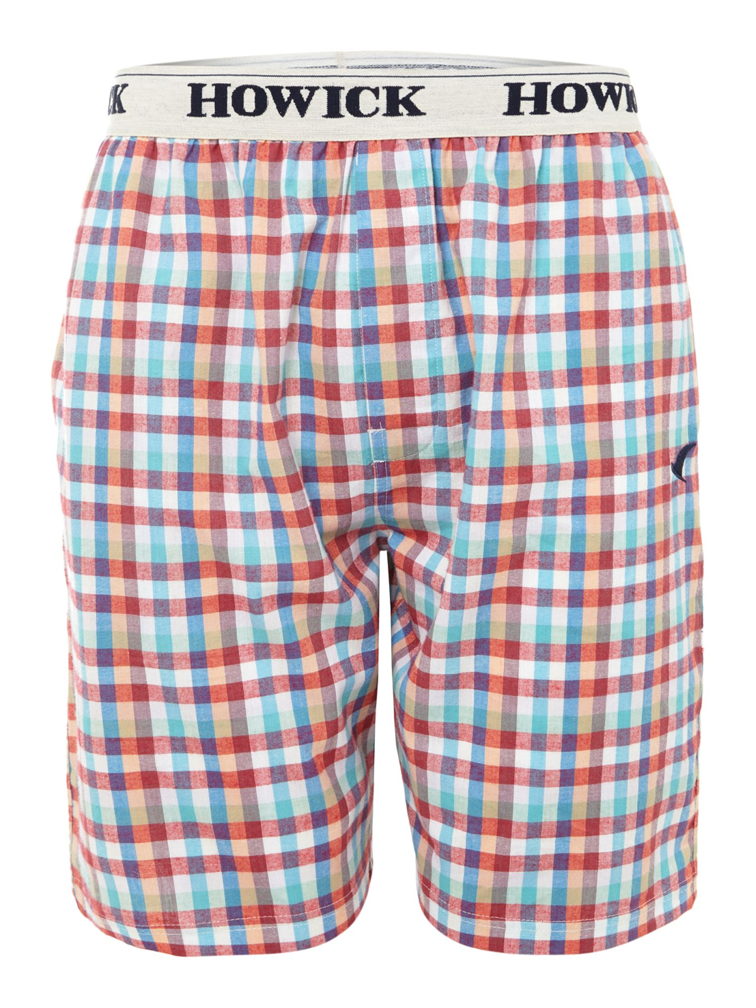 Bright check pyjama short
