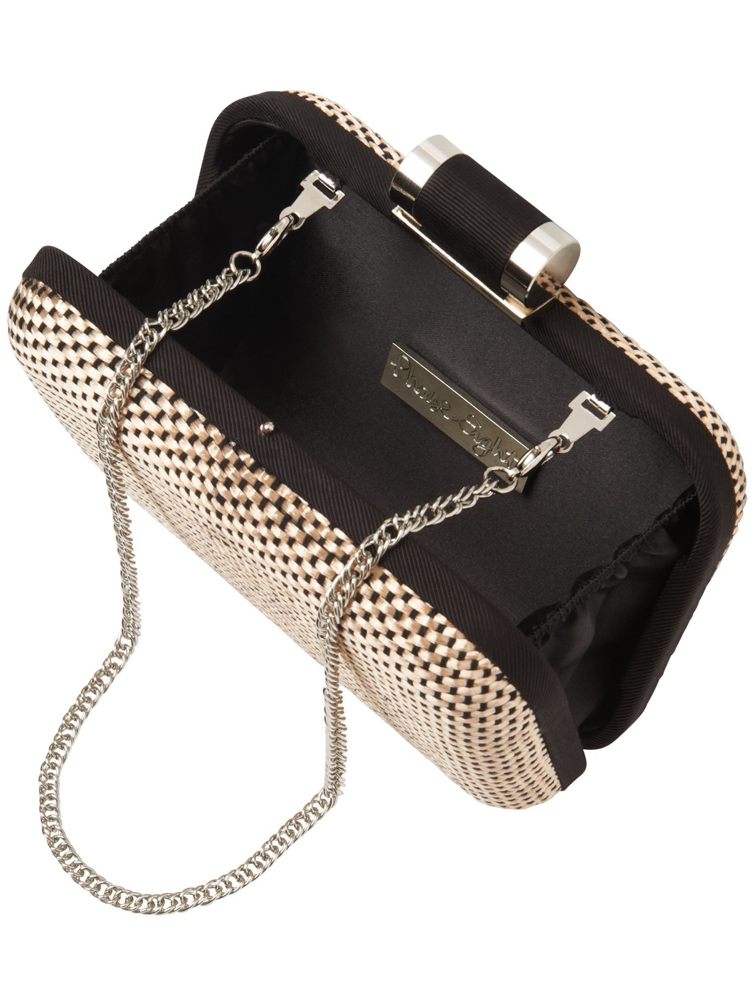 Lucia weave box clutch bag