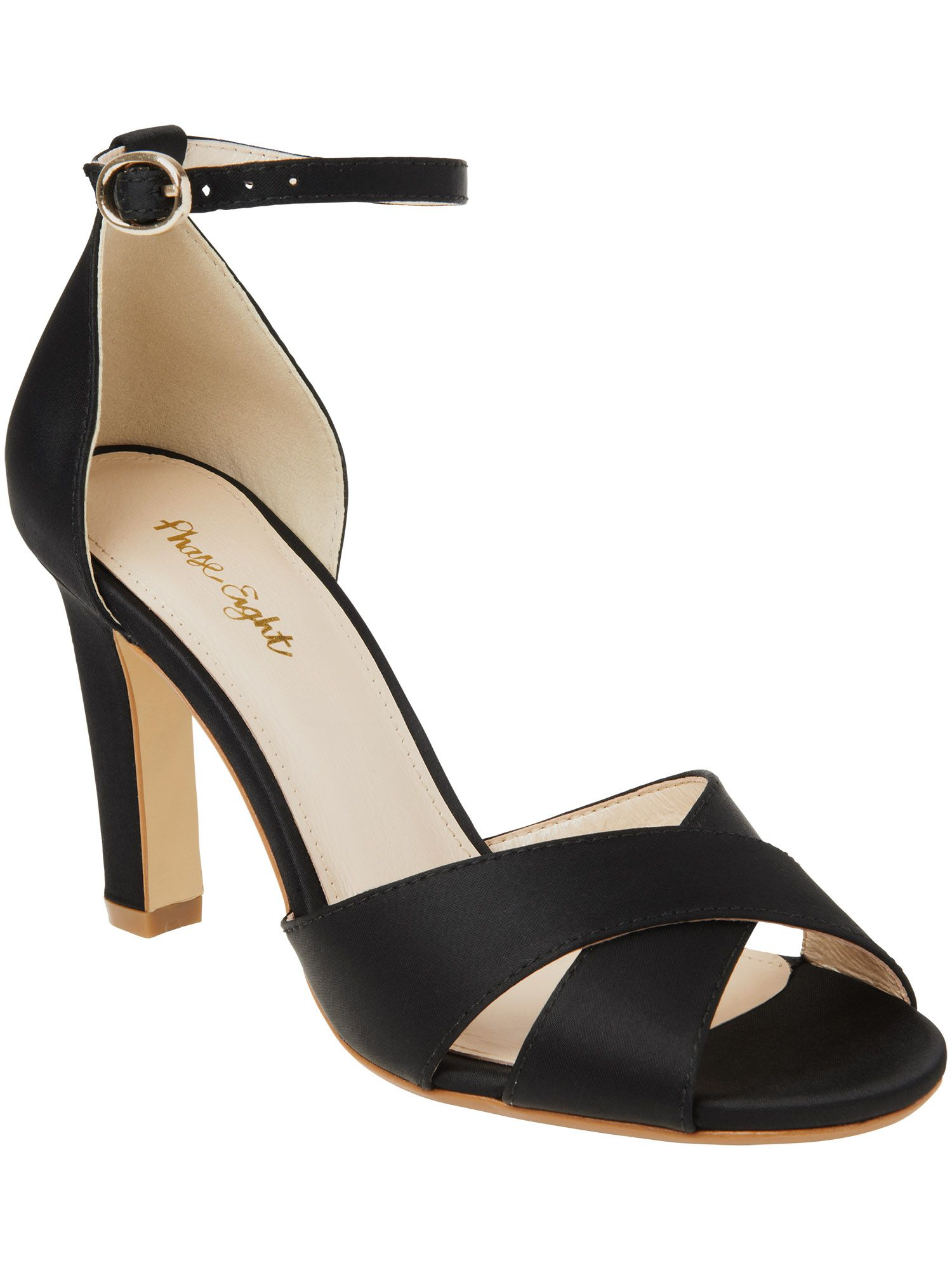 Ally satin block heel shoes