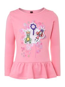 Girl`s fairy princess sticker t-shirt