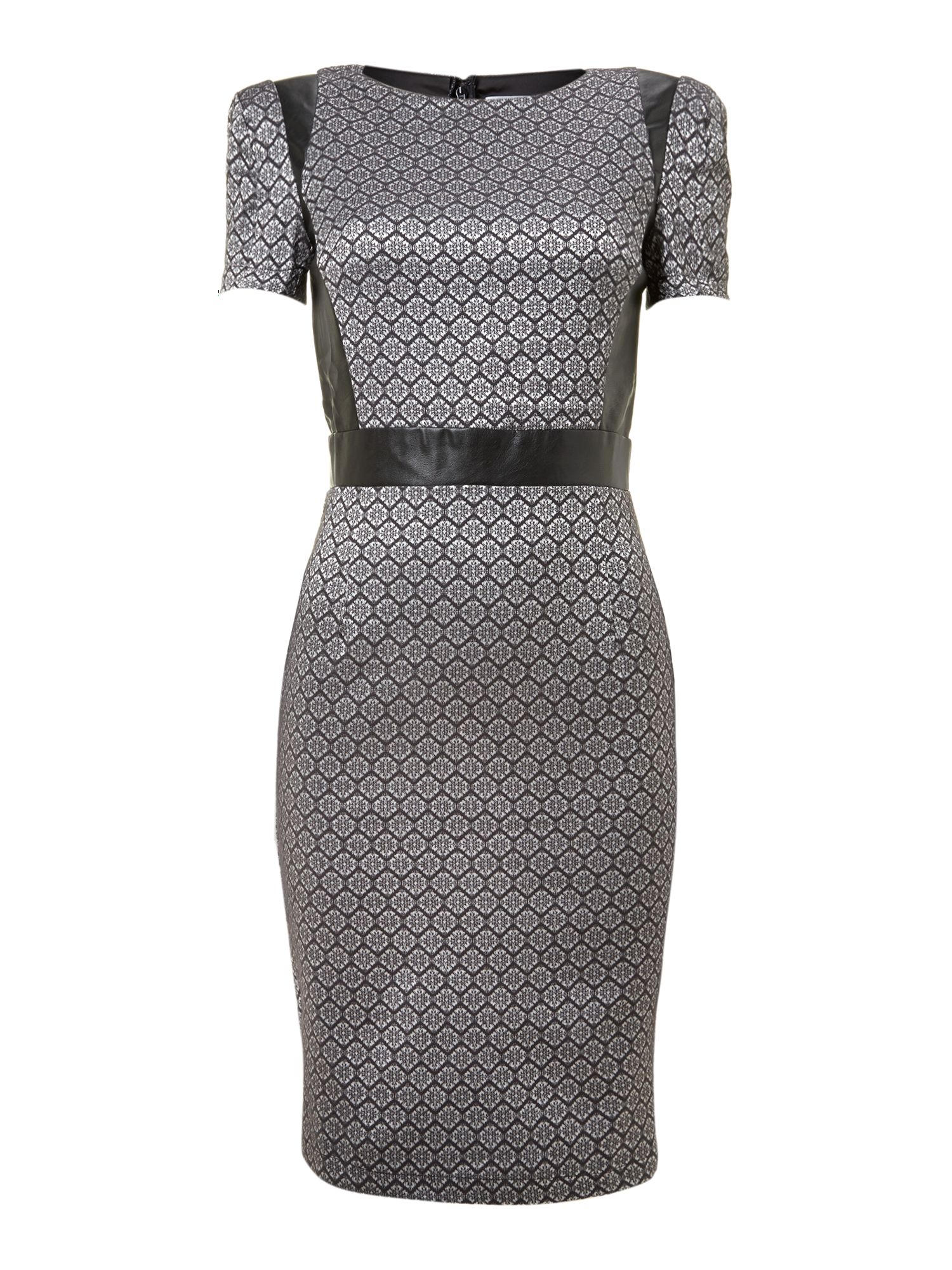 Shift print midi dress
