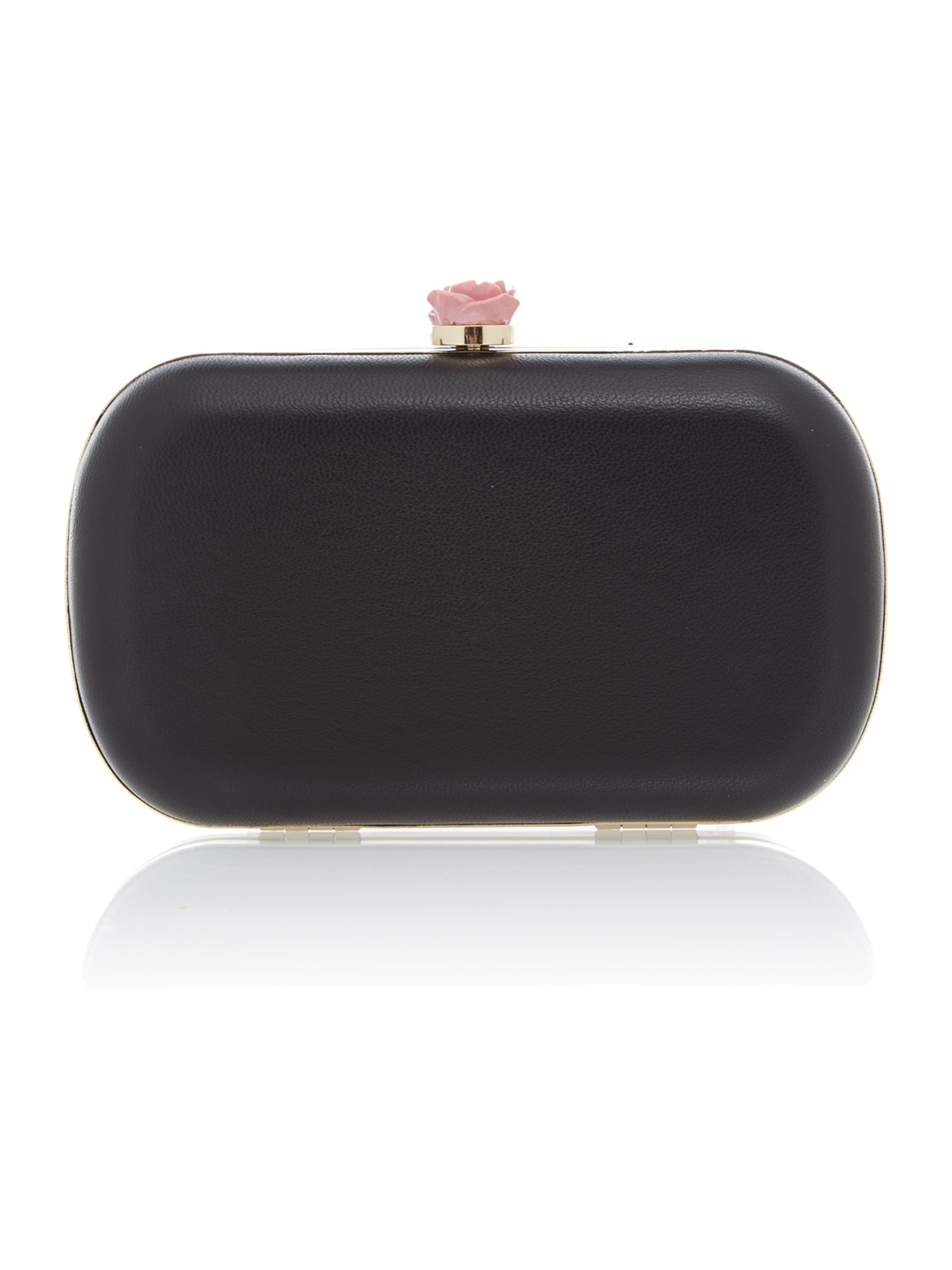 Minaudiere black clutch bag