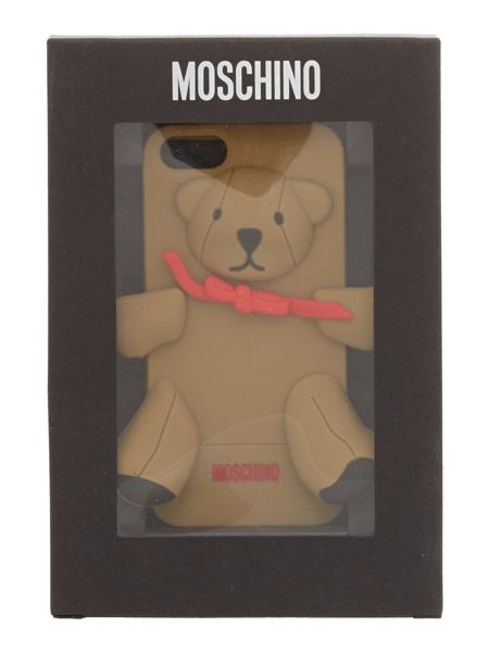 Moschino Teddy brown phone case