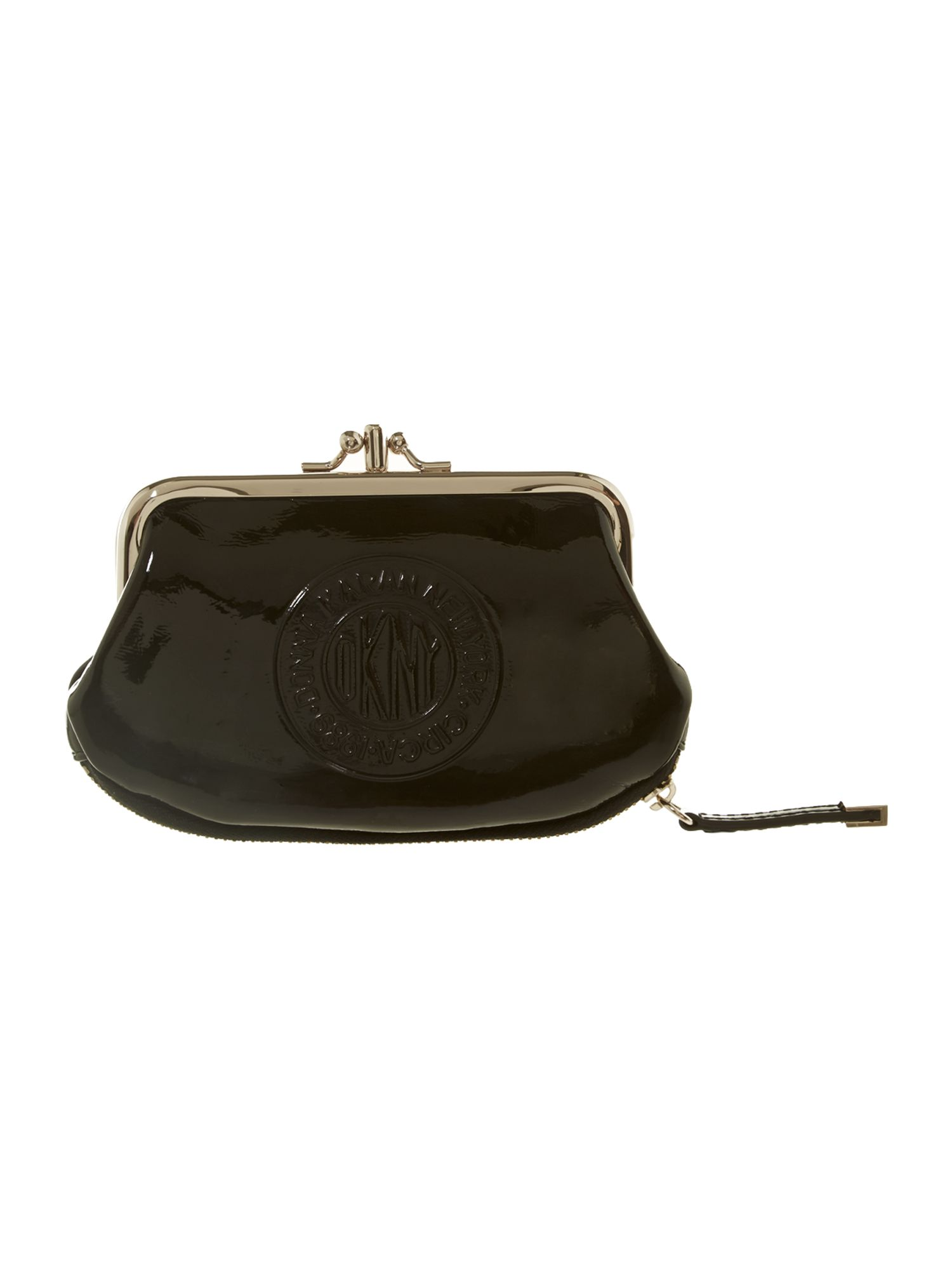 Patent logo black small coin purse