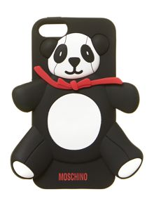 Panda black phone case