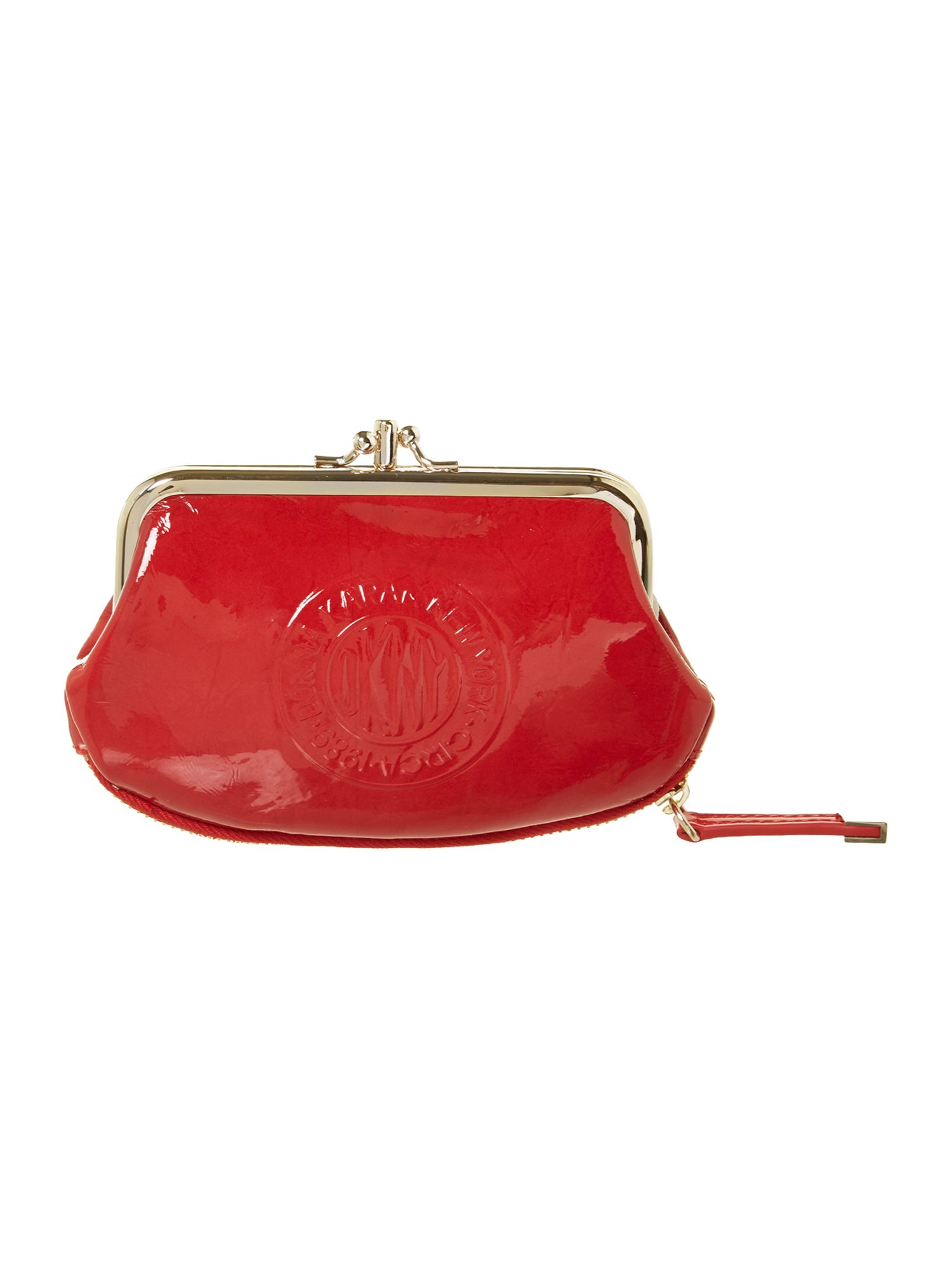 Patent logo red small coin purse