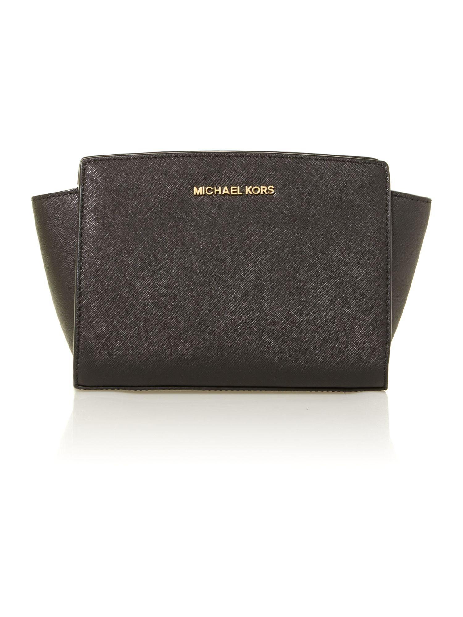 Selma small black cross body bag
