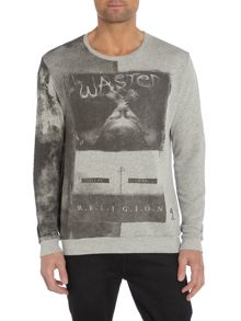 Wasted print sweater