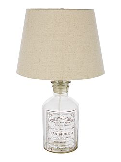 Vintage Bottle Table Lamp
