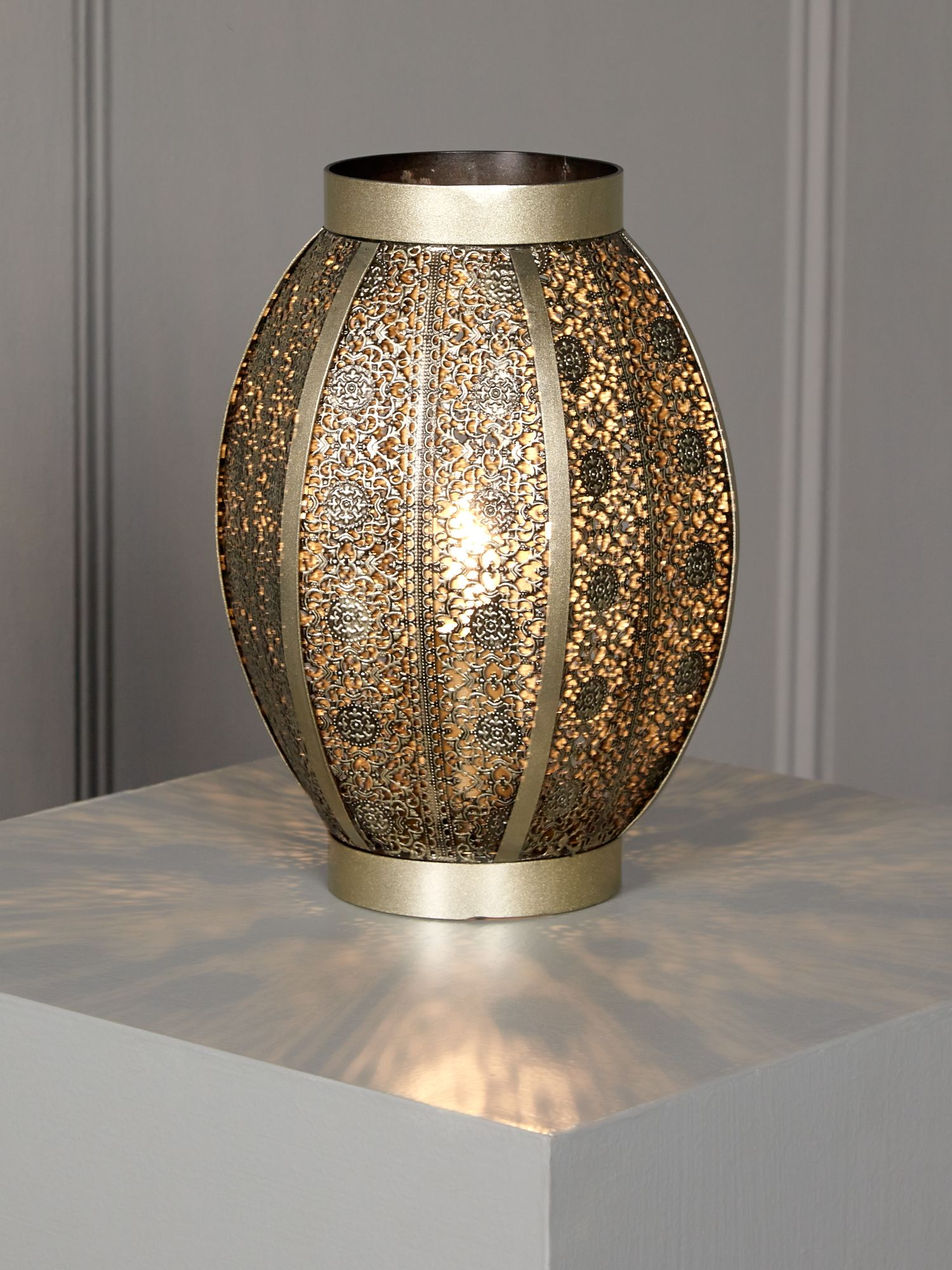 Punched Metal Table Lamp