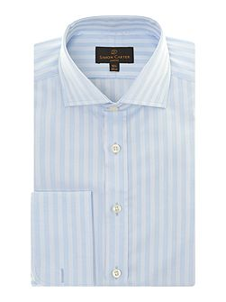 Satin Stripe Double Cuff Regular Fit Shirt