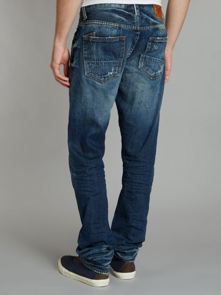 PRPS Fury tapered whiskers jean