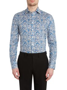 Batik paisley point collar slim fit shirt