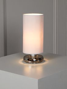 Olivia Plated Crystal Base Table Lamp