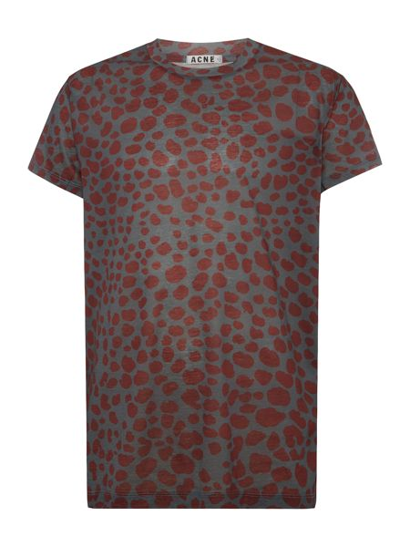 Acne Crew neck printed t shirt