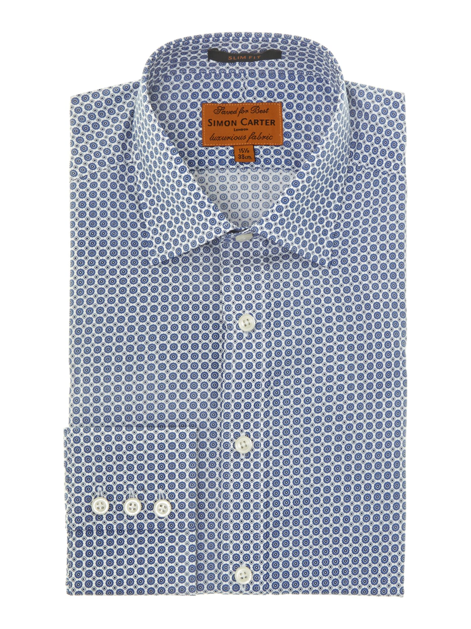 Foulard slim fit shirt